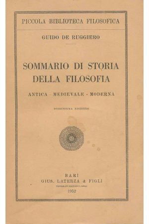 Sommario di storia della filosofia